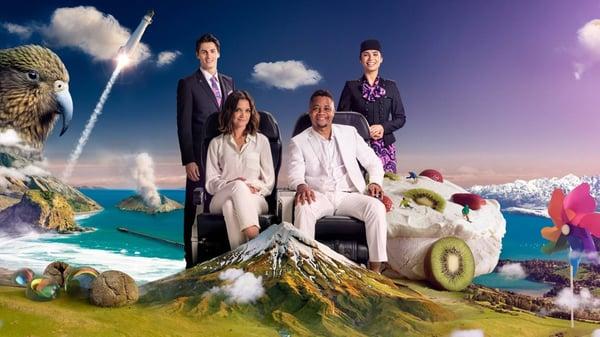 Air NZ safety video publicity shot