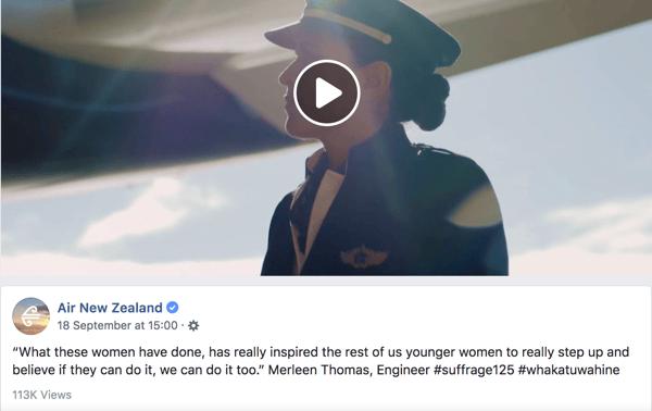 Air NZ Women's Suffrage ad